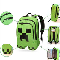 Wholesale School Bags Minecraft Backpack Game My World Top Quality Kids Boys Mochila Double Shoulder Bag Block Coolie Strange PVC Waterproof