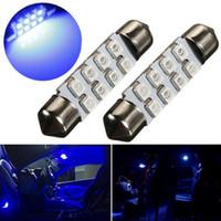 Wholesale 4pcs mm LED SMD LED Blue Car Auto Interior Dome Festoon Reading Map Door Lights Lamp Bulb DC12V