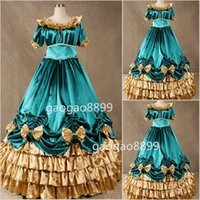 belle yellow gown - Hunter Freeship Renaissance Victorian Gothic Prom Dresses with Bow Colonial Southern Belle Ball Gown Special Occasion Gown