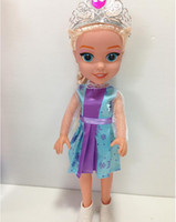 Wholesale New Arrival inch Frozen Musical Queen Elsa And Anna With Olaf Snowman Singing quot let it go quot Dolls For Girls DHL Free
