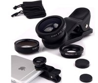 2 Universal bluetooth speaker universal 3 In1 Fish eye lens Macro Wide Angle Mobile Phone Camera Lens Clip Set