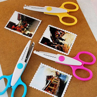 Wholesale Metal and Plastic DIY Scrapbooking Photo Scissors Paper Lace Diary Decoration Wave Lace Edge Craft Scissors Lace scissors Z451