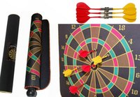 Wholesale Darts Boards quot Reverseable Magnetic Roll Up Darts Boards With Darts Target Game Arrows indoor Outdoor recreational Sports