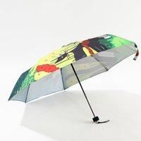 bask design - Cat Umbrella For Women Three folding Umbrella Fashion Design Paraguas Umbrella coating is prevented bask in the Folding umbrella