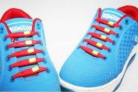 Wholesale Hotselling silicon shoelaces creative magic laces shoelace mixed color set