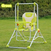 Wholesale Multi purpose Child Swing Hanging Chair Dining Chair Outdoor Garden Baby Toys Red Blue Green Foldable Baby Swing Best Service