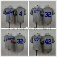 Wholesale 30 Teams Men s Duke Snyder Sandy Koufax Jackie Robinson Los Angeles Dodgers grey throwback brooklyn jersey LA cheap Authentic shirt