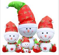 Wholesale Christmas Gift Wholesale Deal - Christmas Decorations Super Adorable Snowman Doll Christmas Gifts Deals For Children Desktop Decoration Christmas Tree Decoration Supplies