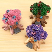 architectural house - Micro Landscape Architectural Ornaments Cartoon Toys Fleshy Multicolor Optional Resin Handicraft Ornaments Tree House