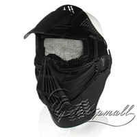 Wholesale Masks Style Reinforced Plastics Protective Full Face Mask Military Tactical Full Face Shield Mask NO For Outdoor War Game Good