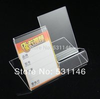 acrylic sign holders wholesale - Mobile cell phone display stand Acrylic Mobile Phone Holder sign lable pieces