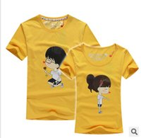 Cheap Unisex Lovers clothes Best Cotton Round Lovers t shirts