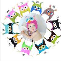 crochet toddler beanie - 120pcs Toddler Owl Ear Flap Crochet Hat Children Handmade Crochet OWL Beanie Hat Handmade OWL Beanie Kids Hand Knitted Hat