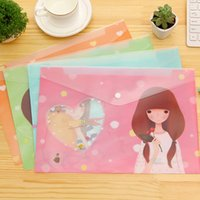 Wholesale Waterproof Bag Office Data Stationery Korean Stationery Cute A4 PVC File Wallet Multi layer Expanding File Folder For Documents