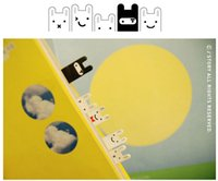 Wholesale 5 off cute Stationery Ninja rabbit notes posted sticky N times stickers rabbit bookmark scratchpad notes stickers