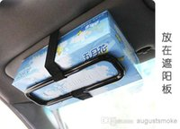 Wholesale Car accessories car supplies hanging tissue box paper holder car tissue box frame sun shading board backpack