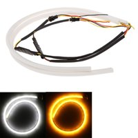 Wholesale Universal External Lights cm LED Car Light Daytime Running Light Bulb Strip Tube Style DRL Driving Lamp White Yellow V