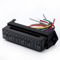 auto trailer wiring - 12 Way DC V Volt Fuse Box V V Circuit Car Trailer Auto Blade Fuse Box Block Holder ATC ATO input ouput Wire order lt no track