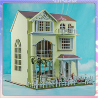 dollhouse - Wooden DIY Handmade Self Assemble Dollhouse Mini House K003 Happy Family