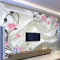 Wholesale Custom photo wallpaper Large Dsofa TV background wallpaper mural wall art roses d mural wallpaper
