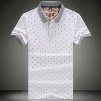 Cheap Free Shipping 2014 Fashion Polo Shirts For Men flower matching Mens Casual Cotton Polo shirt King size S M L XL XXL 3XL 4XL 5XL