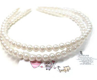 Wholesale Fashion Barrette pearl hair bands candy colors pearl ball headbands hairbead hair accessories head jewelry