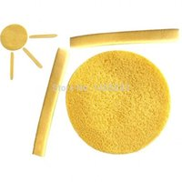cosmetic pads - Compress Cleansing Alage Cellulose Sponge Body Facial Face Wash Pad Cosmetic Puff Remove Makeup Send Random Color