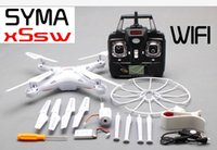 Wholesale 100 Original SYMA X5SW WIFI RC Drone fpv Quadcopter with Camera Headless G Axis Real Time RC Helicopter Quad copter Toys