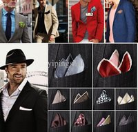 Wholesale New Arrival Male Mens Silk Pocket Square Solid Color Towel Handkerchiefs Tower Snot rag Hanky Hankies