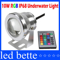 Wholesale 10W v underwater RGB Led Light LM Waterproof IP68 fountain pool Lamp color change with key IR Remote controller