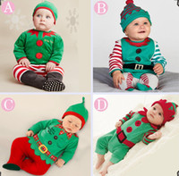 TUTU baby boy holiday outfits - free fedex ups ship Baby Christmas romper Sets with Hat Infant Toddler pc Outfits Girl Boys Santa Romper Jumper Custom Xmas Baby