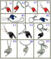 Pendants Alloy Compass Keychains Fairy Tail Logo Keychain Fashion cosplay necklace Phone Strap Cartoon Anime Key chain Toys Figure Pendants birthday gifts