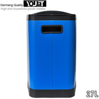 Wholesale Germany YOULET L hospital hotel lobby mall foot stainless steel trash can with a lid works