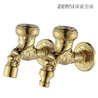 antique washing machines - All copper and gold antique washing machine faucet mop pool faucet single cold European small FAUCET faucet