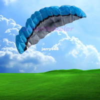 Wholesale Colors m Power Dual Line Parafoil Parachute Sports Beach Kite Easy to Fly