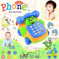 baby music belt - cp565 Baby Toys phone Child music phone ring backguy smiley phone belt diabolo dial phone educational toys A5