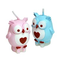 Wholesale Hot Cute Children Happy Birthday Party Smokeless Animal Owl Candle Charming Gifts Sunshine