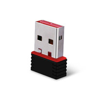 al por mayor adaptador de red inalámbrico externo-Tarjeta de red LAN Ethernet Dongle USB Adapter 150 Mbps mini adaptador Wi-Fi Wi-Fi inalámbrica Wi-Fi externa de red WiFi para SKYBOX paquete al por menor / ordenador portátil