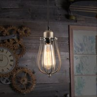 antique whisk - Nordic America industry mining warehouse RH loft creative style antique black whisk pendant lamp with Edison bulb