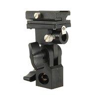 Wholesale New Professional Black B Type Universal Mount Flash Holder Hot Shoe Adapter Trigger Umbrella Swivel Light Stand Bracket