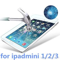 Wholesale New mm D H Proof Tempered Glass Screen Protector Film Cover Free Cloth for Apple iPad Mini