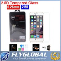 arc quality - Iphone S Plus S S Samsung Galaxy S6 S5 S4 Note note Top Quality Tempered Glass Screen Protector MM H D Arc Explosion Proof