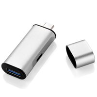 Wholesale Type C HUB USB C Charger Adapter with USB3 Charging Adapter USB3 Port and USB C Charging Port
