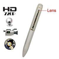 8G 720p hd pen camera - GB Memory HD P Pure Copper Spy Camera Pen DVR with Chromeplate Hidden Lens SPC_409