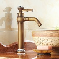 antique brass bathroom faucet - Bathroom Vessel Sink Lavatory Basin Antique Faucet Brass Classic Mixer Tap Banheiro Torneira Hot Cold Water Plumbing Sanitary AF1015