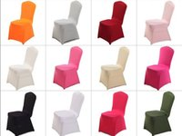 Wholesale White spandex Wedding Party chair covers White spandex lycra chair cover for Wedding Party Banquet many color