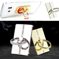 Wholesale 360 Degree Rotating Metal Ring Stand Mount Diamond Holder For All Cell Phone Mobile iPhone Plus Galaxy S5 S6 Edge Note iPad Samsung Tab