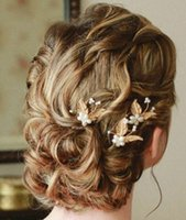 10k gold jewelry - Gold Bridal Hair Pins Wedding Jewelry Elegant Actual Images Handmade Bridal Headpieces Clip Pin High Quality Fascinator Gardeniadh