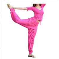 active pilates - Hot Sale Cozy Soft Women Pants Wrap Waist Sport Pilates Long Trousers Loose Sports Leggings Modal Pants