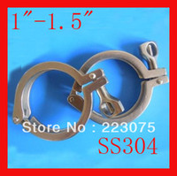 Wholesale quot quot Single SS304 sanitary Triclamp stainless steel Heavy Duty Clamp Wing Nut